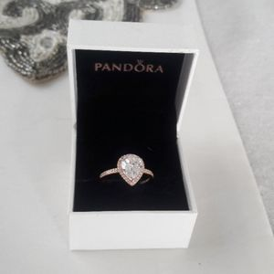 Pandora size 9 pear shaped ring